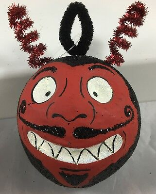 Vintage Department 56 GlitterVille Halloween Devils Head Tree Ornament Boxed