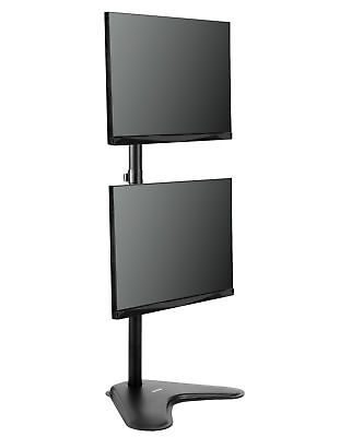 """VIVO Dual LCD Monitor Desk Vertical Stand Mount 