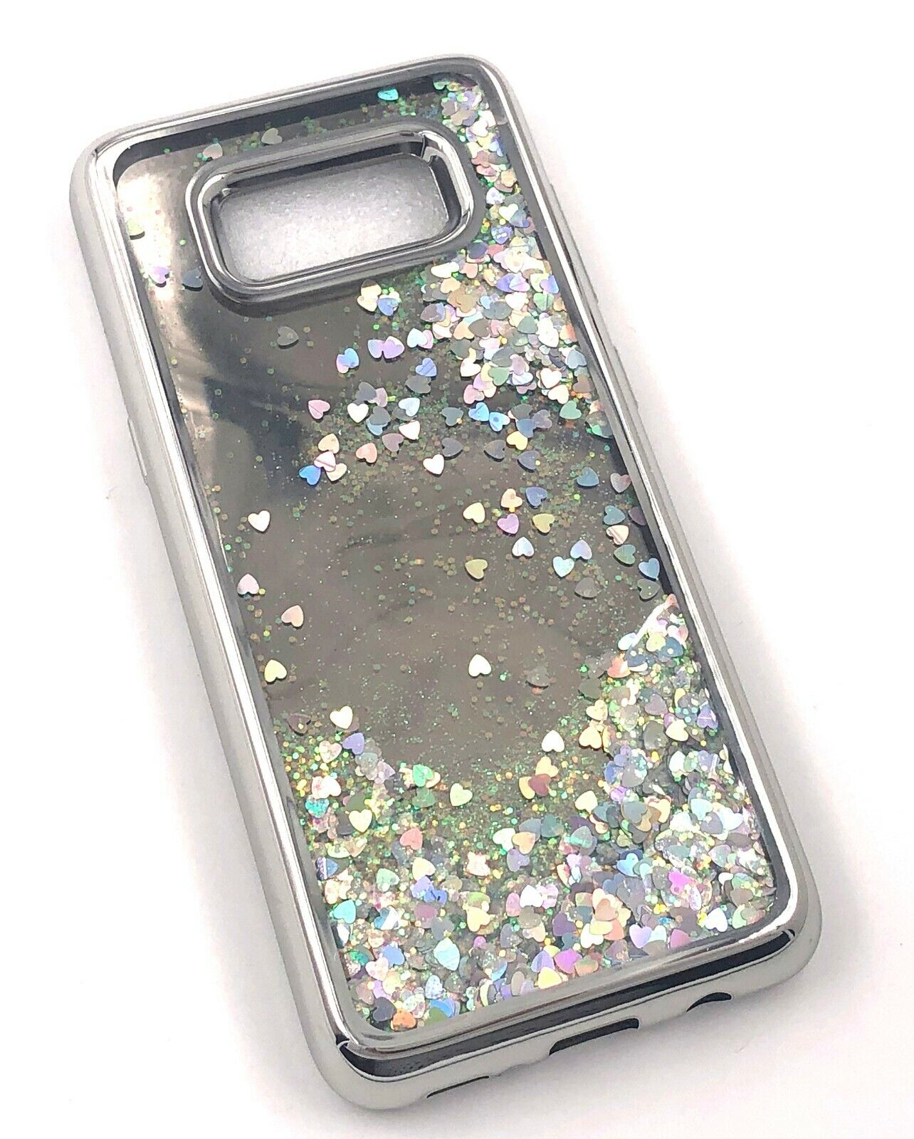 For Samsung S8 Quicksand Glitter Liquid Mirror Case Cover Silver Cases, Covers & Skins