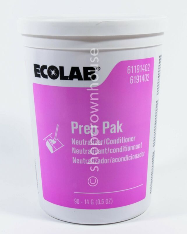 EcoLab Prep Pak Water Soluble Floor Neutralizer/Conditioner 90 Pouches 6191402