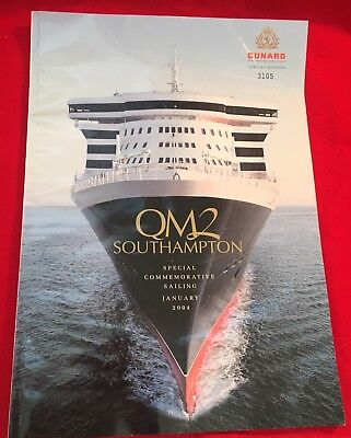 Cunard Special Edition Queen Mary 2 Southampton Glossy Commemorative Publication