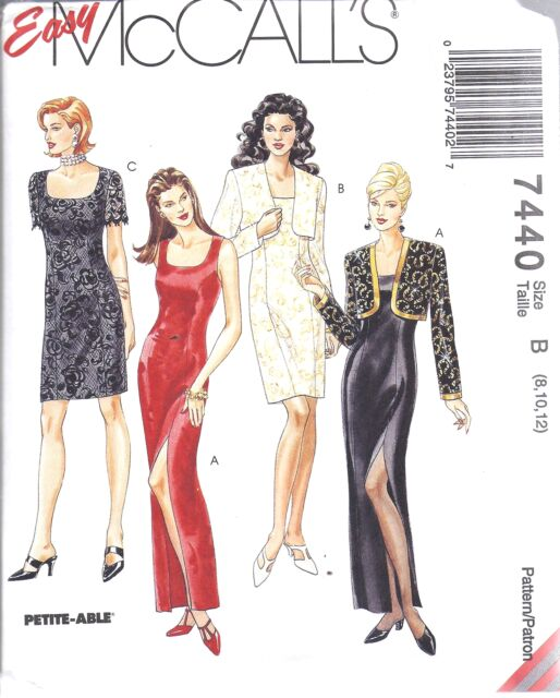 7440 Uncut McCalls Sewing Pattern Misses Lined Evening Dress Gown ...