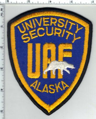 University of Alaska Fairbanks Security 1st Issue Shoulder Patch