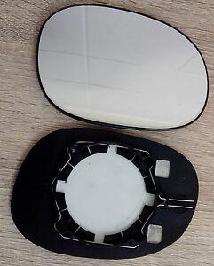 glace miroir retroviseur droit passager peugeot 206 avec support non degivrant ebay. Black Bedroom Furniture Sets. Home Design Ideas