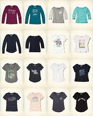 NWT Hollister by Abercrombie A&F hollister womem t-shirt and POLO size XS.S.M .L