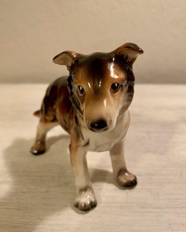 Vintage Porcelain Collie Dog Figurine A230