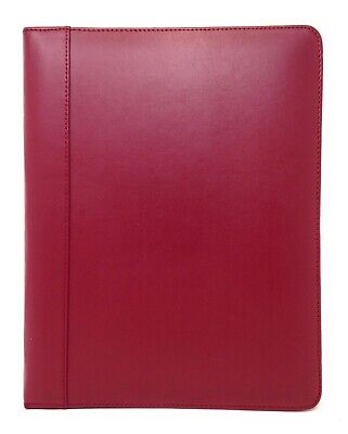 Dart Red Genuine Leather Portfolio With Business Card Holder