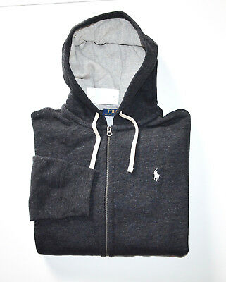 NWT Men's Polo Ralph Lauren Full-Zip Hoodie Sweatshirt, Black, L, Large