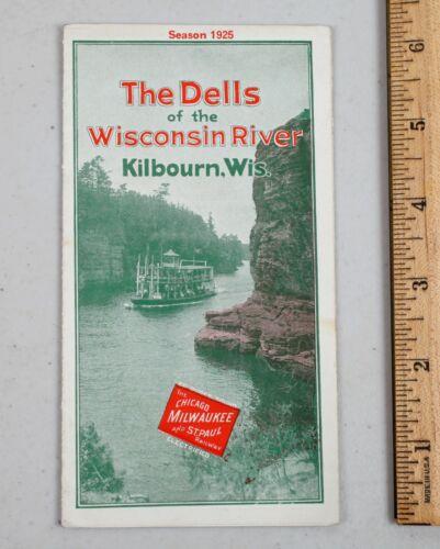 Vintage Railroad Timetable Guide 1925 Milwaukee Road Wisconsin Dells Kilbourn
