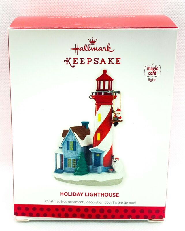 Hallmark Keepsake Holiday Lighthouse Ornament 2013 *REQUIRES MAGIC CORD* TESTED