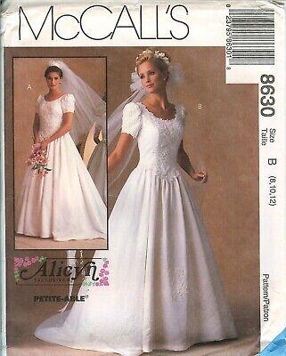 - McCalls 8630 Alicyn Bridal Wedding Gown Dress sewing pattern UNCUT FF vintage