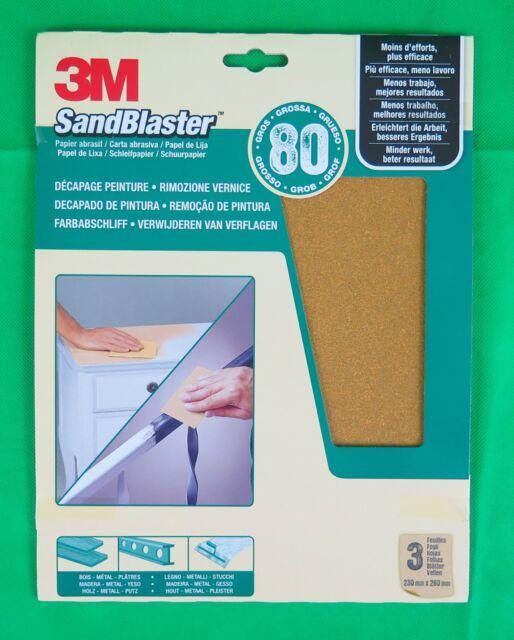 3M SandBlaster Hochleistungsschleifpapier, grob/P80