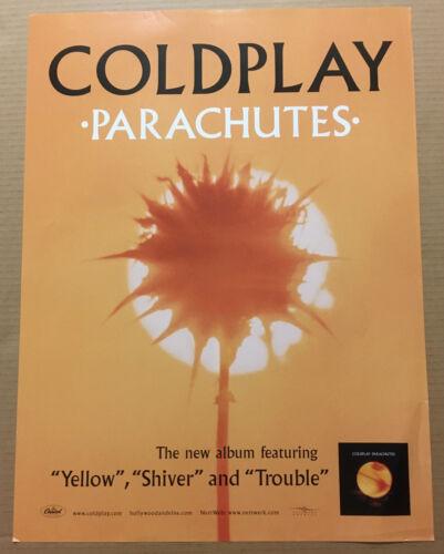 COLDPLAY Ultra Rare 2000 PROMO POSTER of Parachutes CD USA 18x24 NEVER DISPLAYED
