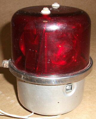 Rare Whelen Eng. Co. Vintage Red Motorized Electric Rotating Beacon Wrm 24v Dc