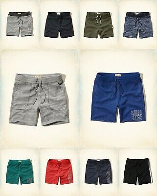 NWT Hollister by Abercrombie A&F men Classic Embroidered Fleece Shorts ALL SZ