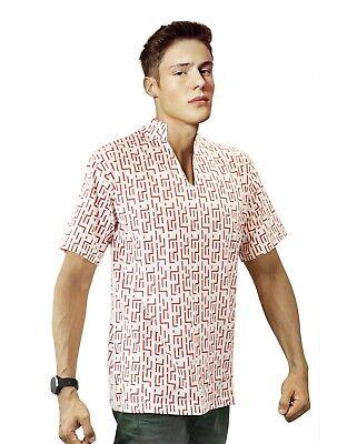 RED PATTERN Fear and Loathing in Las Vegas Raoul Duke Shirt Costume - Raoul Duke Costume