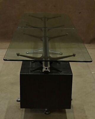 Vintage 10 Herman Miller Bruce Burdick Glass Conference Room Table Aluminum