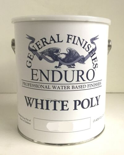General Finishes White Poly WATER BASED PAINT - Flat Gallon