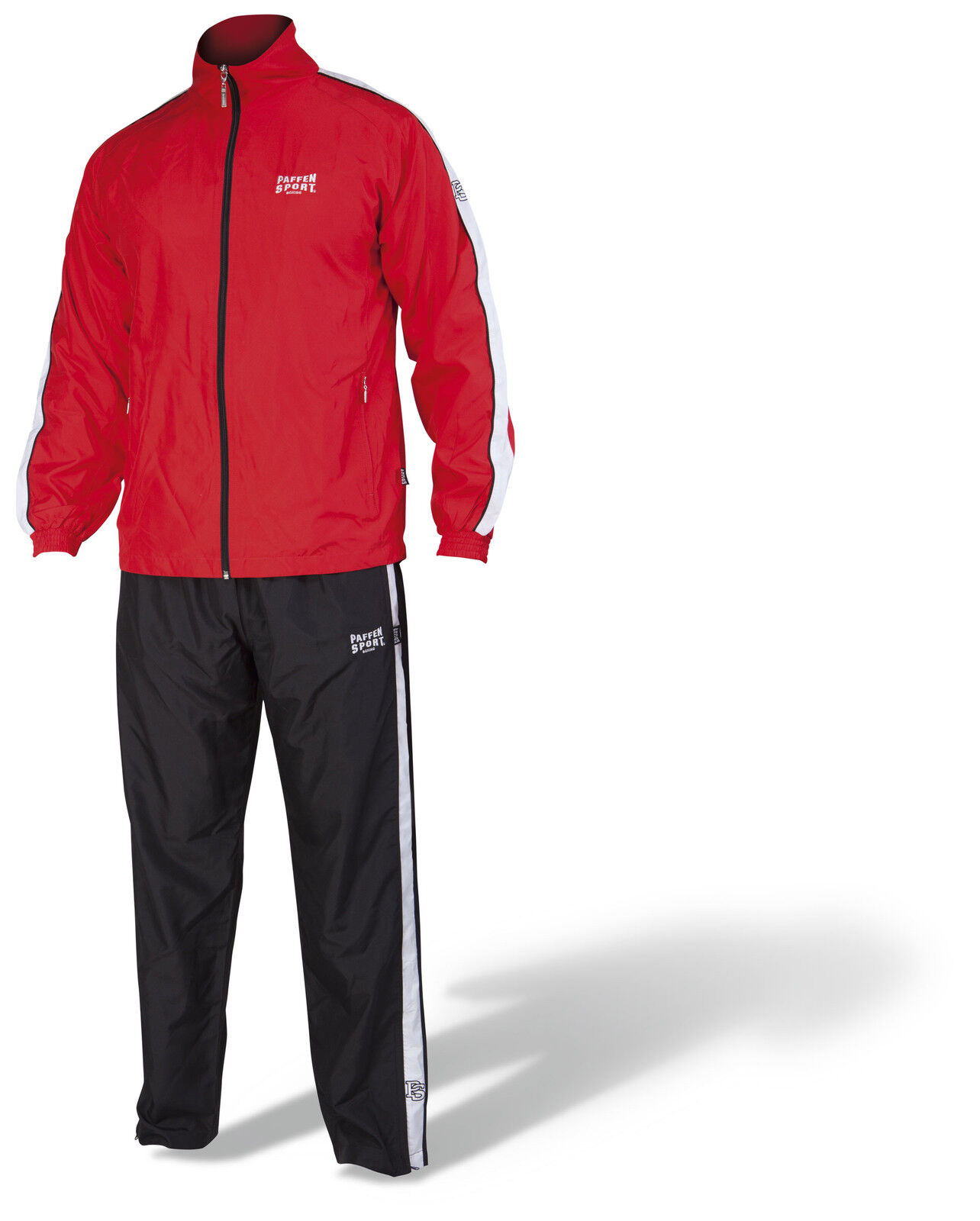 Paffen Sport Team II Trainingsanzug. Rot. 100% Polyester. Boxen. Kickboxen, MMA