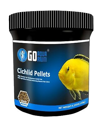 Go Aquarium Cichlid Fish Food Pellets 4.23oz / 120 gms Aquarium Fish Food Pellets