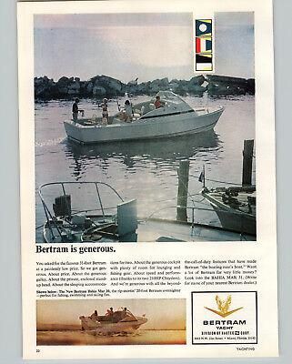 1966 PAPER AD Bertram Yacht Motor Boat 31' Bahia Mar 20