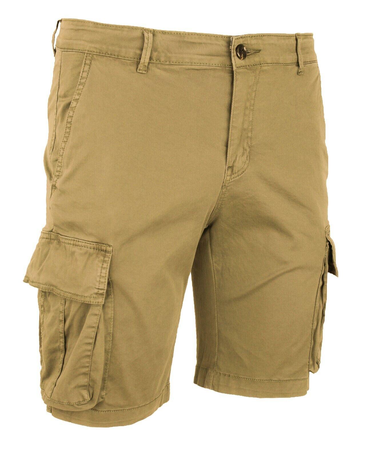 Evoga Pantaloni Corti Uomo Casual Basic Shorts Jeans Bermuda Slim Fit
