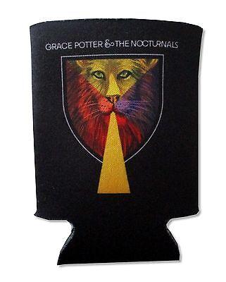 Grace Potter and The Nocturnals Lion Emblem Black Can Beverage Cooler
