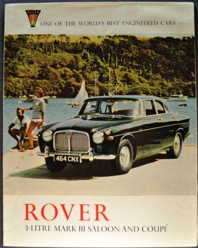 1966-1967 Rover 3-Litre Mark III Brochure Saloon Sedan Coupe Excellent Original