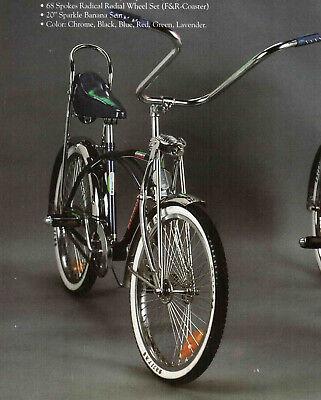 "20"" Lowrider Cruiser W/ 68 spoke Bike Bicycle color Chrome Black Red Blue Purple"