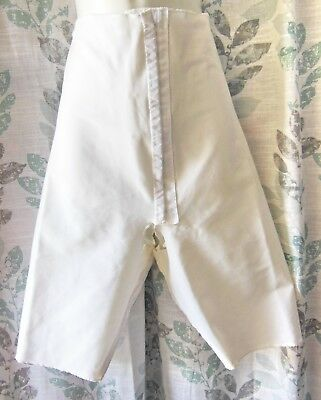 RARE!!! CIRCUMPRESS SURIGAL 50s VINTAGE WHITE LONG LEG OPEN CROTCH GIRDLE M GVC