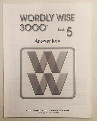 Wordly Wise 3000 Book 5 Teacher's Key