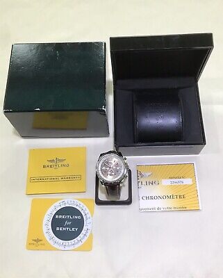 Breitling A44362 Bentley 6.75 Bronze Dial on Brown Leather Deployment Box Papers
