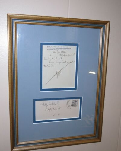 George Bernard Shaw Signed and Inscribed Telegram to Philip Guadalla 1924 Framed