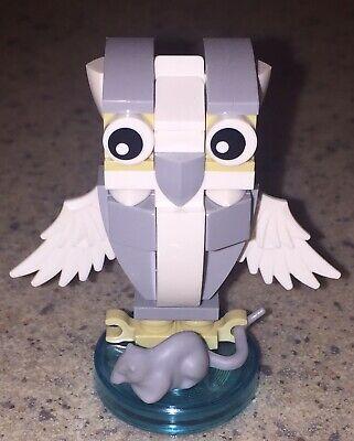 LEGO White Owl Custom Bird Animal model with Gray Mouse Prey