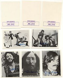 Beatles Black and White 5th series Gum Card Lot, Partial Set of 29 mint cards