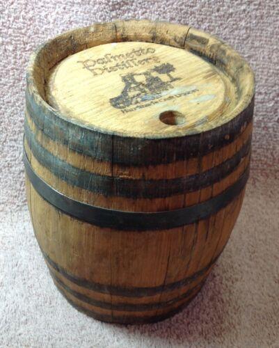 Vintage Small Wooden Barrel PALMETTO DISTILLERY!
