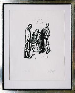 F.K.GOTSCH (1900-1984) 1923, Der Uhrenjude Pabst Holzschnitt signiert Nr 112/150