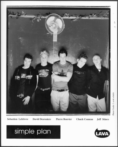 ~ Simple Plan Original Lava Records Promo Photo Canadian Rock Band