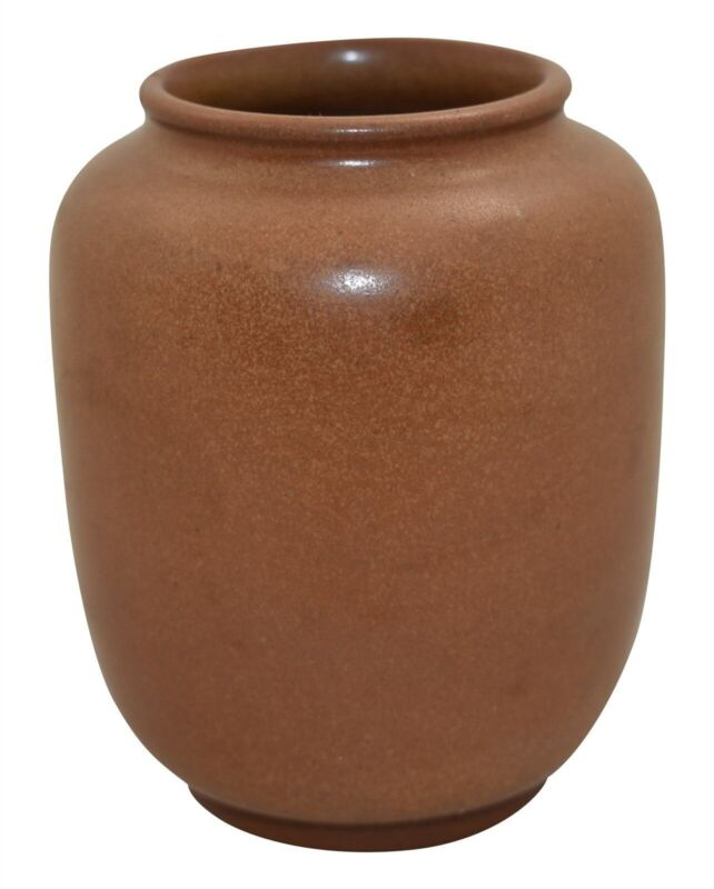 Marblehead Pottery Tobacco Brown Arts And Crafts Vase