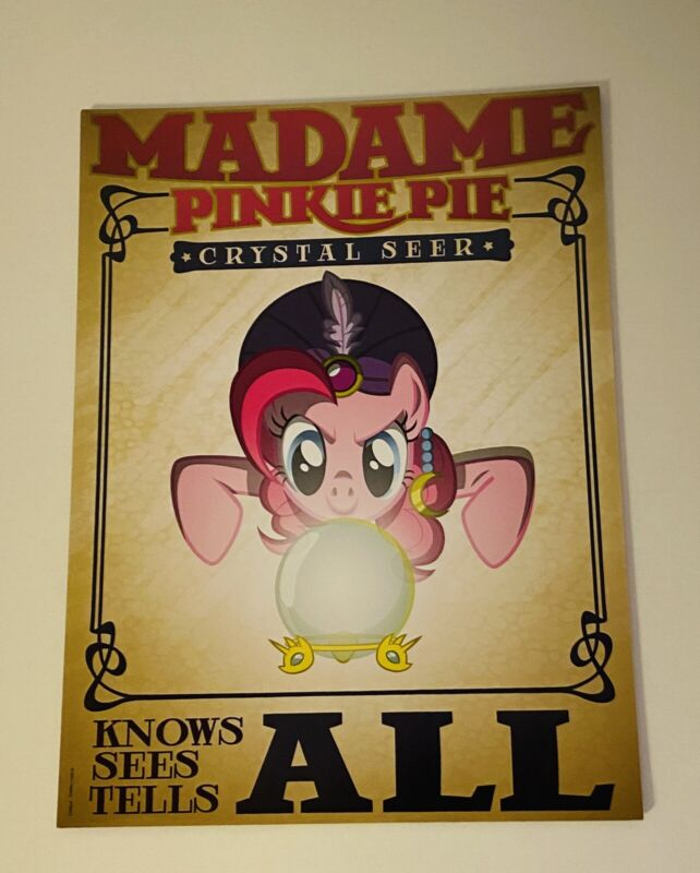 SDCC 2014 My Little Pony Madame Pinkie Pie Crystal Seer Poster Exclusive NEW