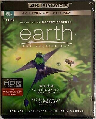 NEW BBC EARTH ONE AMAZING DAY 4K ULTRA HD BLU RAY 2 DISC SET FREE WORLD SHIPPING