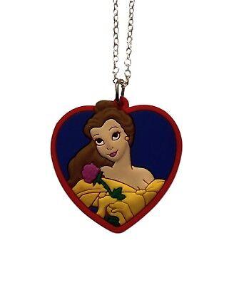 Belle Beauty & The Beast Heart PVC Pendant Chain Necklace -
