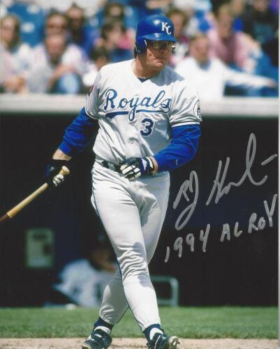 1994 AL Rookie of the Year KC Royals Bob Hamelin autographed 8x10 action photo
