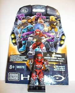HALO Series 6 Mega Bloks UNSC SPARTAN GRENADIER RED Ultra Rare Figure Loose New