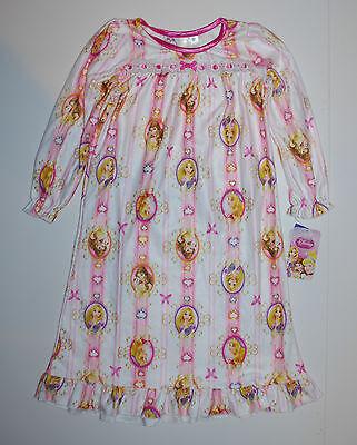 Flanell-nachthemd Kleid (Nachthemd~USA~80-86~Mädchen~Disney~Flanell~Prinzessin~Kleid~Princess~Rapunzel)