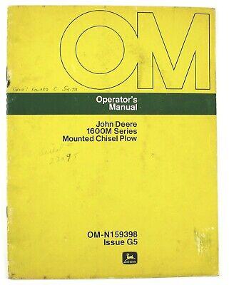 John Deere 1600m Series Mounted Chisel Plow Operators Manual Omn159398 Issue G5