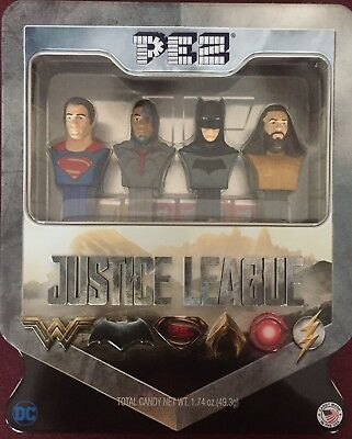 PEZ - 2017 Justice League Gift Tin - Set of 4 - Mint in Tin