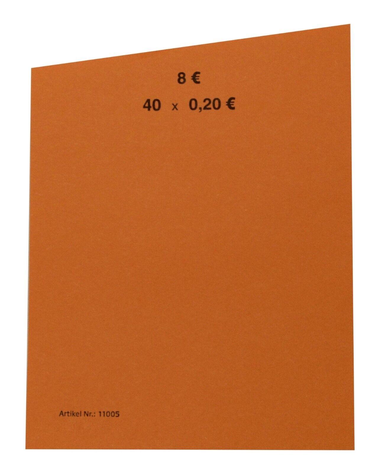 20 Cent 0,20 EURO Handrollpapier Rollpapier EUR Münzen Stückzahl von 50 bis 1000