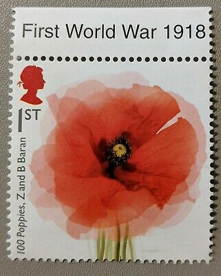 United Kingdom Unused 1st Class Stamp - WWI - 100 Poppies, Z and B Baran for sale  Shipping to Ireland