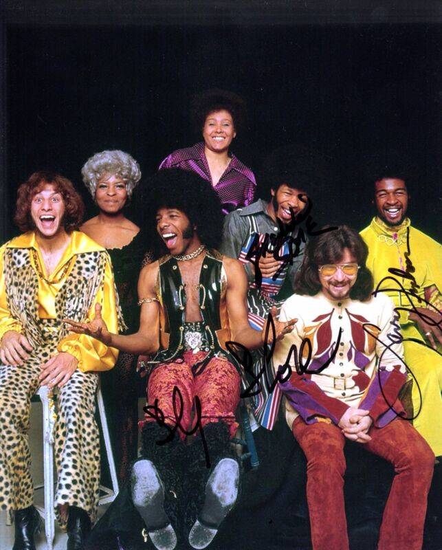 GFA Freddie Larry & Sly * SLY AND THE FAMILY STONE * Signed 8x10 Photo S2 COA